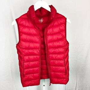 Aqua Orange Puffer Down Vest Nordstrom Medium D17